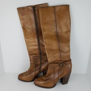 Frye | Patty Tall Riding Distressed Boots Size 8.5